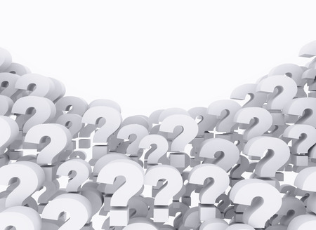 marks: Question marks 3d background