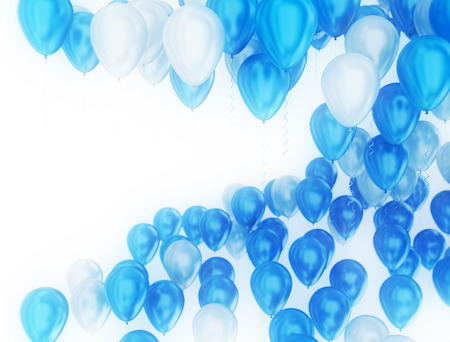 blue party: Blue and white glossy party balloons