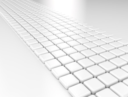 infinitely: Abstract background made of 3d cubes Stock Photo
