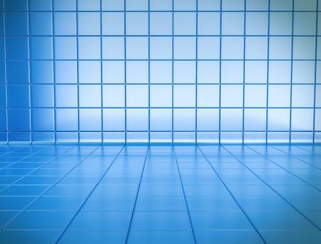 tiles floor: Blue tile background Stock Photo