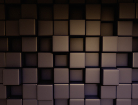 steel structure: Abstract 3d cubes technology background Stock Photo