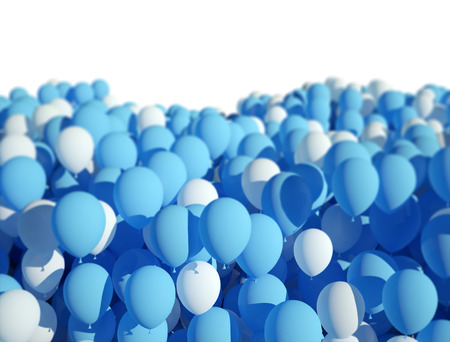 blue party: Blue and white party ballonns design background Stock Photo
