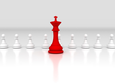 Red chess king