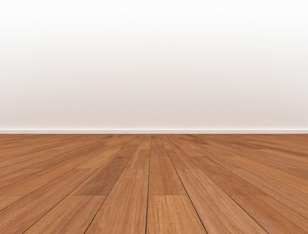 Kamer blinde muur houten vloer