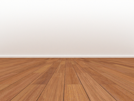 Room blank wall wood floor Standard-Bild