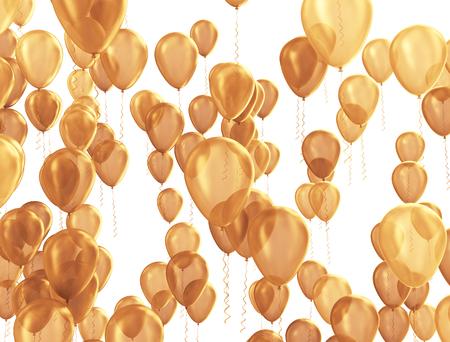 celebration background: Celebration background with golden balloons Stock Photo
