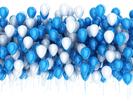 lots: Party celebration balloons isolated on white
