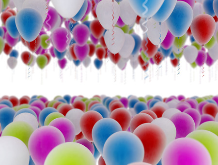 multi color: Party balloons multi color isolated on white background