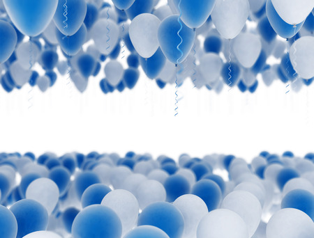 blue party: Blue and white celebration party balloons Stock Photo