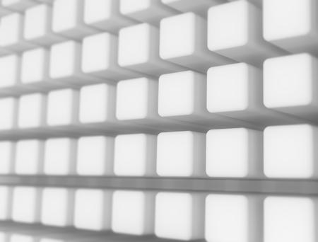 infinitely: Digital white cubes background