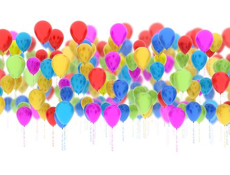 Ballonnen Met Licht : Multi color party ballonnen helder licht geïsoleerd op een witte