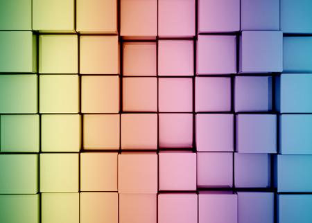 infinitely: Multi color 3d cubes background