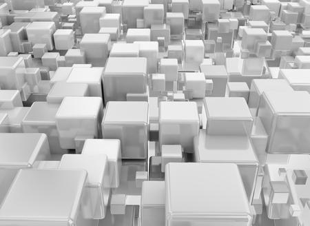 metallic background: Metallic abstract cubes background Stock Photo