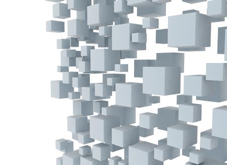 tehnology: Digital illustration of 3d cubes design background