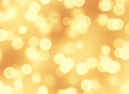 Abstract golden lights bokeh background