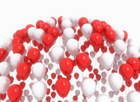 christmas decorations: Happy birthday balloons red party decoration background