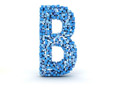 3D letter B build out of cubes