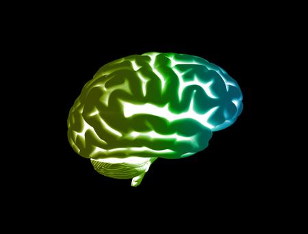 Active blue brain light streaks