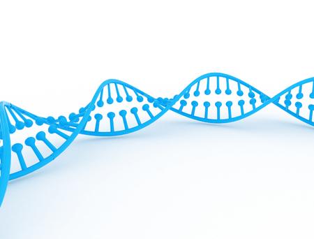 3D rendering of DNA Stock Photo