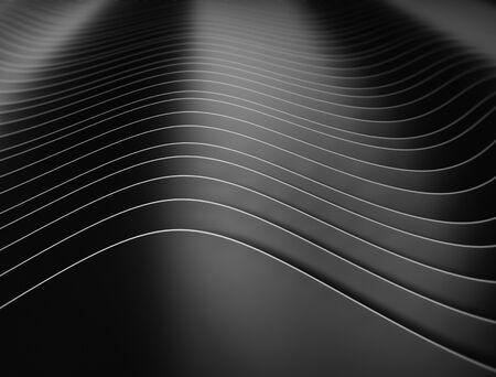Patrón de onda oscura abstracta