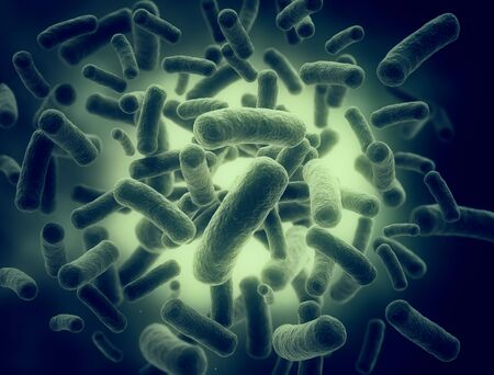 Bacteria high resolution detailed 3d render Stock Photo