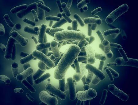 Render 3d detallado de alta resolución de bacterias Foto de archivo
