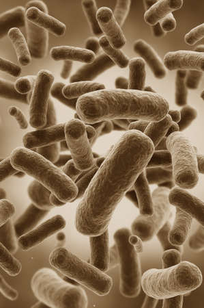 Illustration of bacteria cells Stock Photo