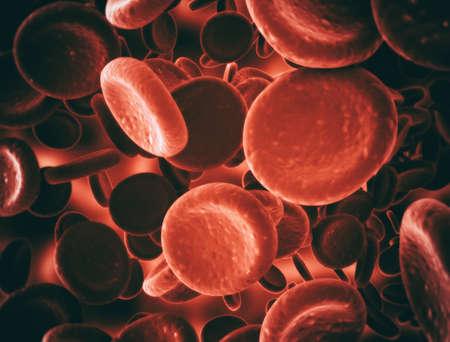 Red blood cells illustration, scientific or medical or microbiological background
