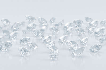 Diamonds large group blue shade