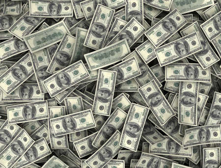 Money background top view