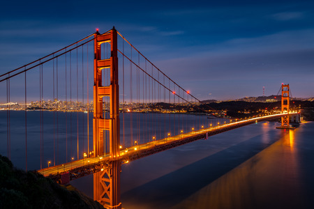 While watching sunset over the Pacific Ocean from Battery Spencer, I captured this night shot of the Golden Gate Bridge and the city of San Francisco