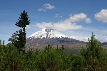 Mount Cotopaxi, a stratovolcano in Ecuador.