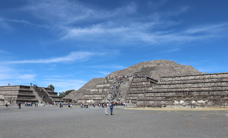 Pyramid of the Sun at Teotihuacan, Mexico.