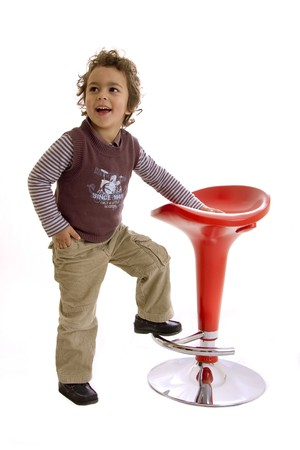 seat kid isolated  on a white background photo
