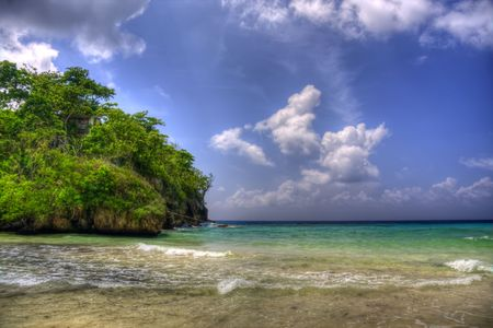jamaican:  Negril Coast, west Jamaica, Caribbean Stock Photo