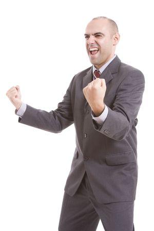 man symbolizing victory photo