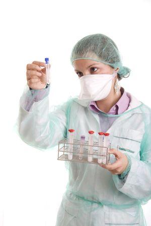nurse on white background photo