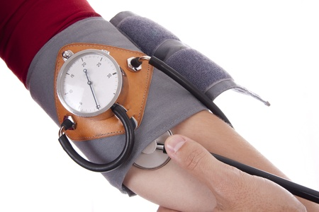 doctor measuring blood pressure photo