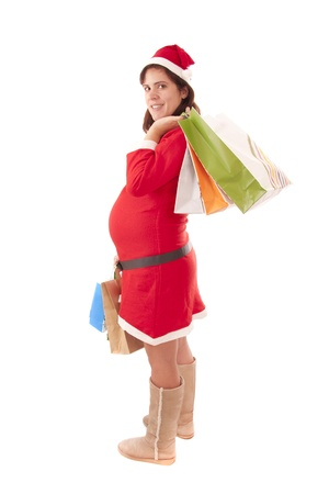 Mrs. Santa Claus pregnant Stock Photo - 11812066