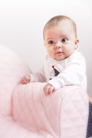 baby on the sofa photo