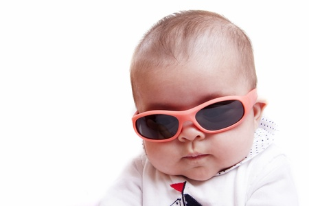 sunglasses isolated: baby with sunglasses