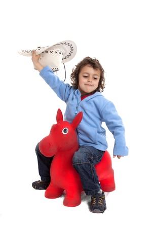 boy on a horse photo