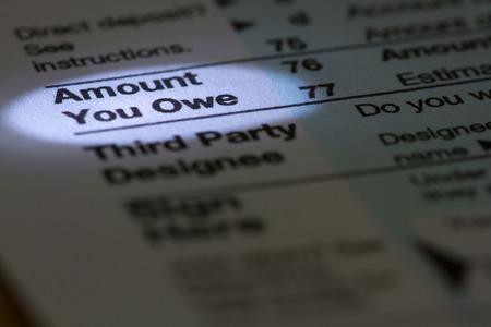 Amount You Owe 스톡 콘텐츠