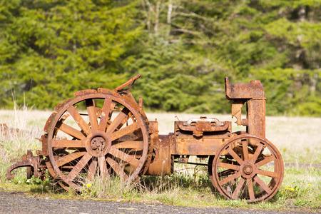 Antique Tractor 스톡 콘텐츠