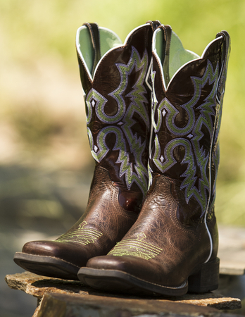 Fancy Western Boots 스톡 콘텐츠