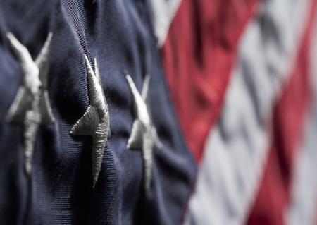 Old Glory Close Up Stock Photo