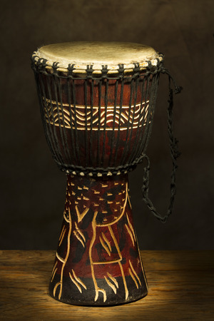 African Hand Drum painted with Light