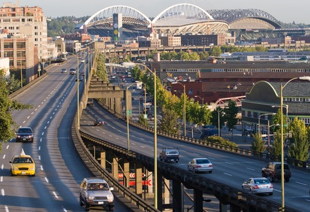 Horizontal Day Photo of Downtown Seattle