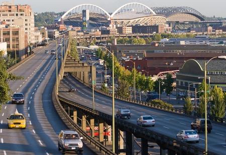 seahawks: Día Horizontal Foto de Downtown Seattle