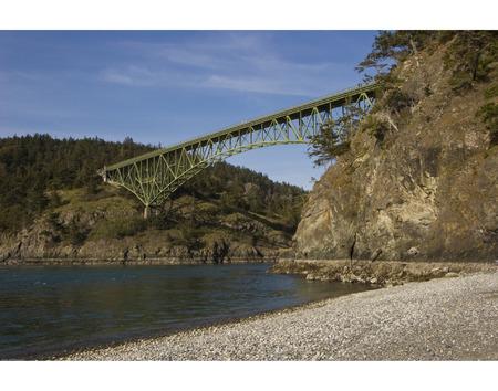 Deception Pass Bridge between Whidbey and Fidalgo Islands in Northwest Washington state